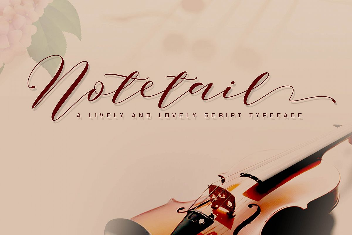 Notetail Script Typeface example image 1