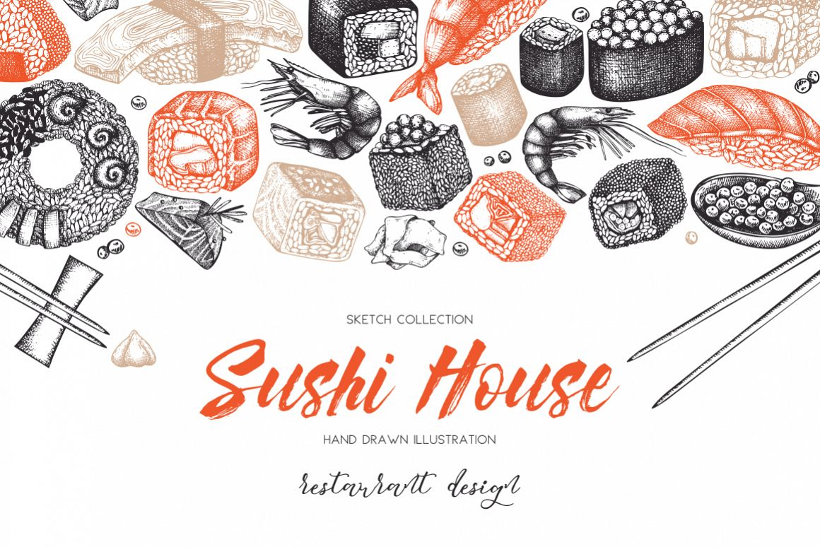 Vector Sushi Collection example image 1
