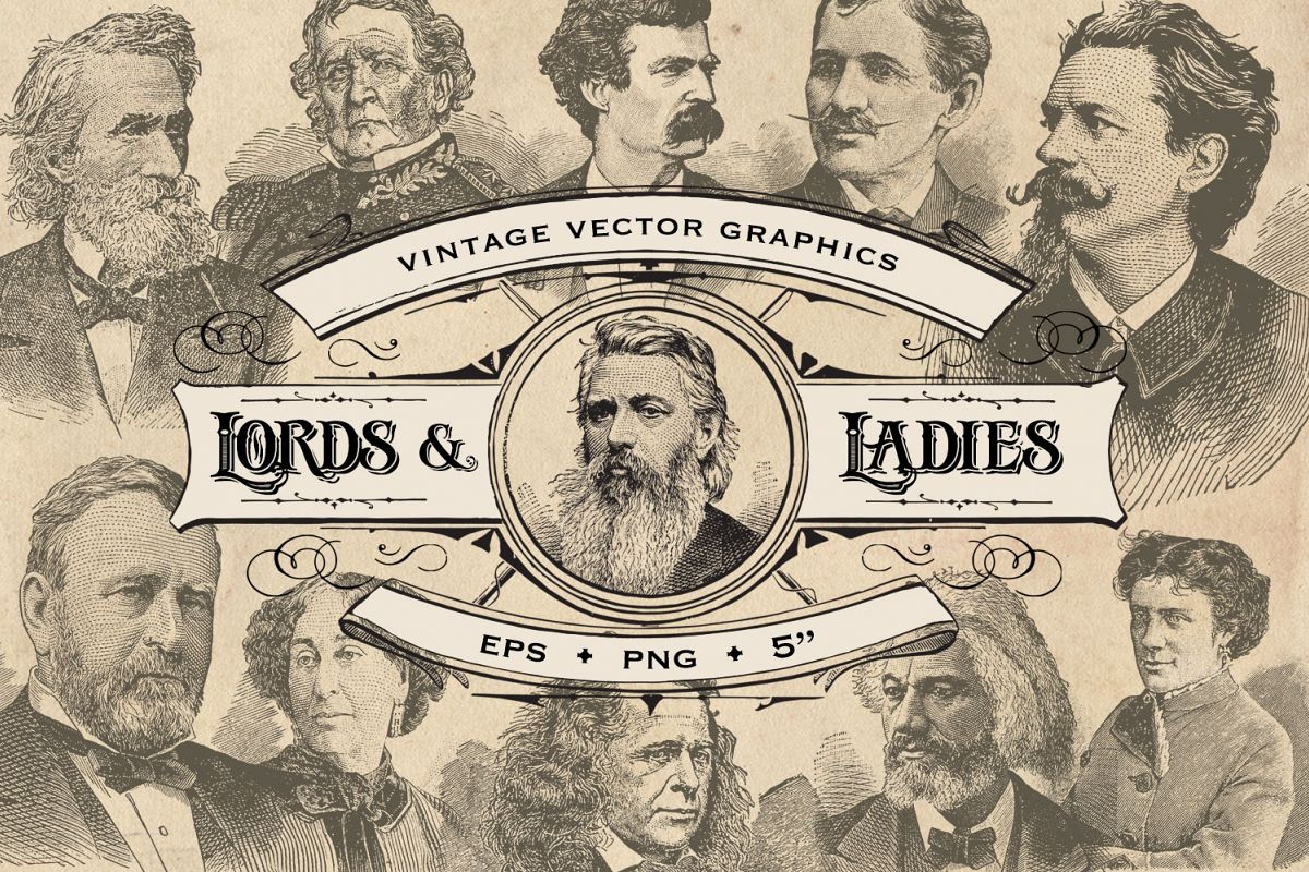 Vintage Lords & Ladies Graphics example image 1