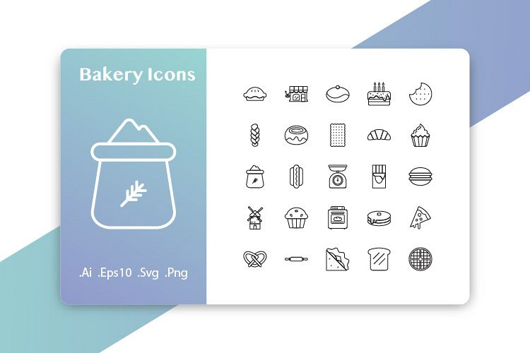 25 Bakery Icons example image 1