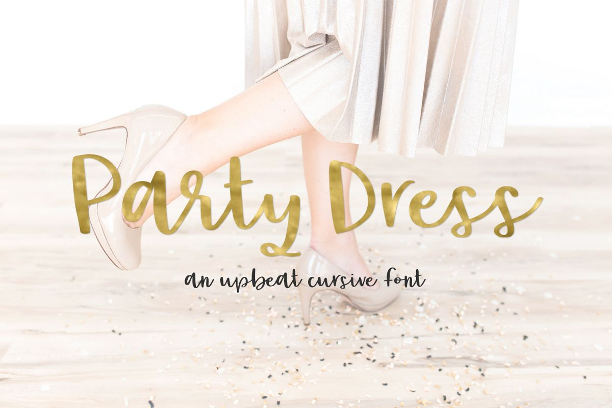 Party Dress Cursive Font example image 1