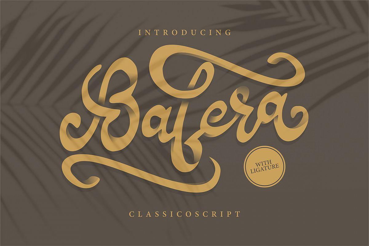 Bafera | Classico Script Font example image 1