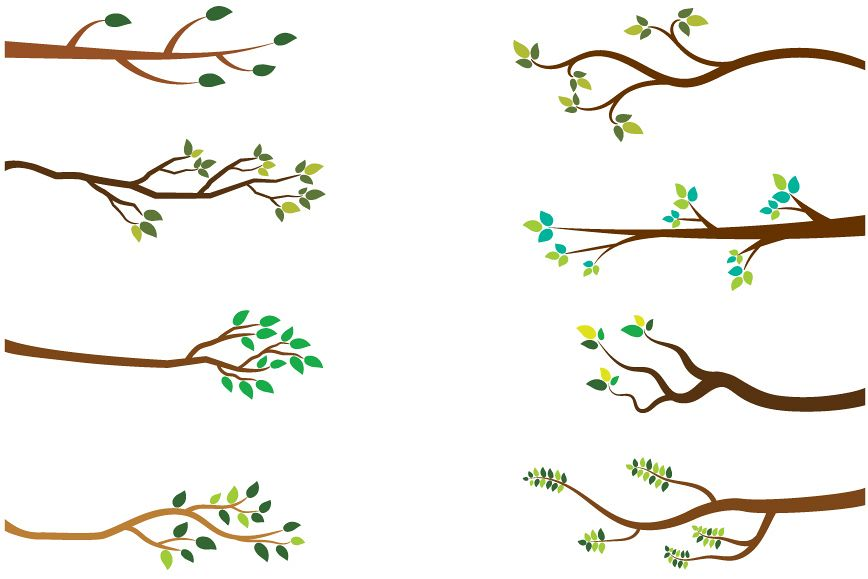 Tree Branches Clipart Green Leaves Branch Clip Art Spring