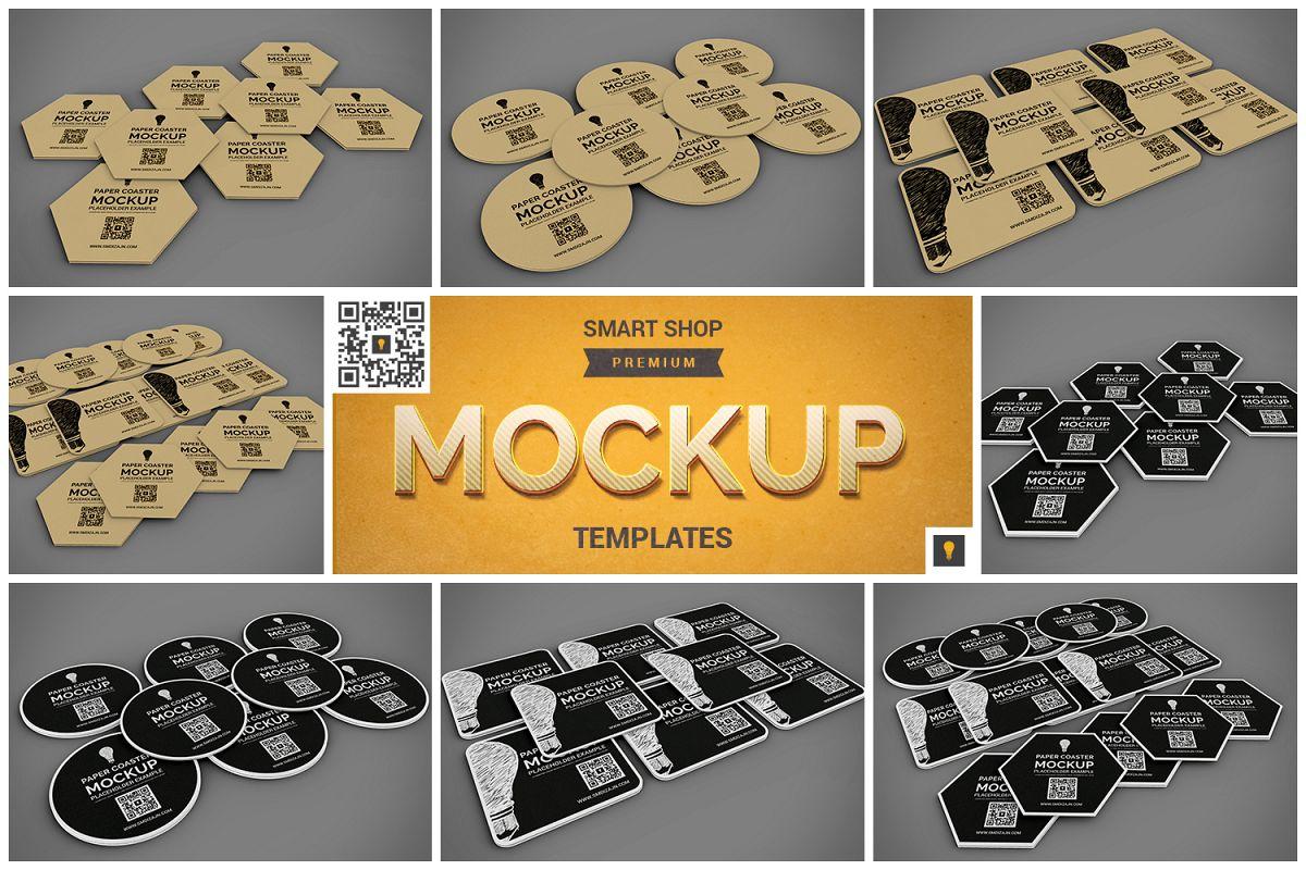 Paper Coaster Mockup example image 1