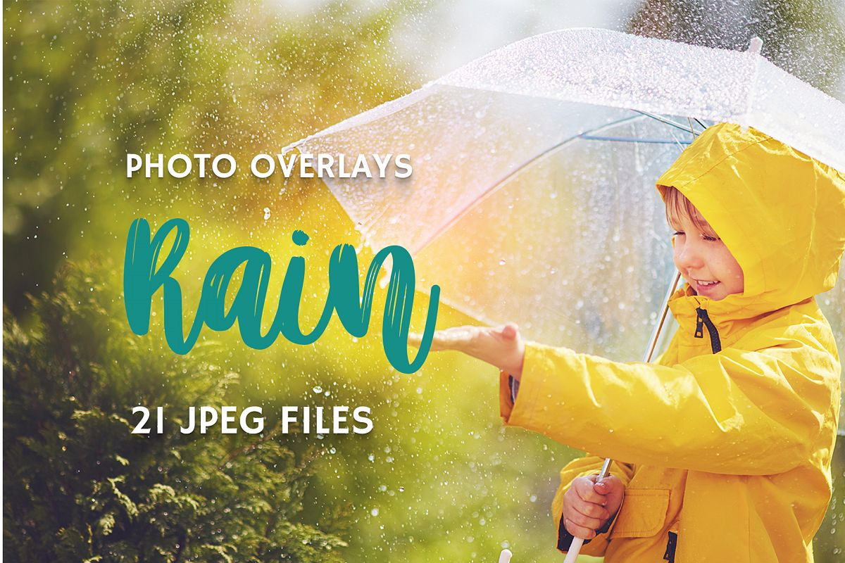 21 Rain Photo Overlays example image 1