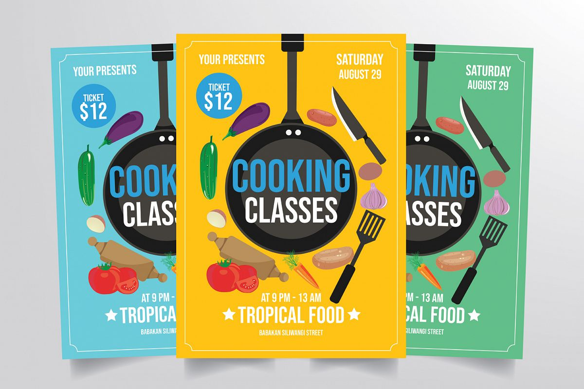 Cooking Class Flyer Template example image 1