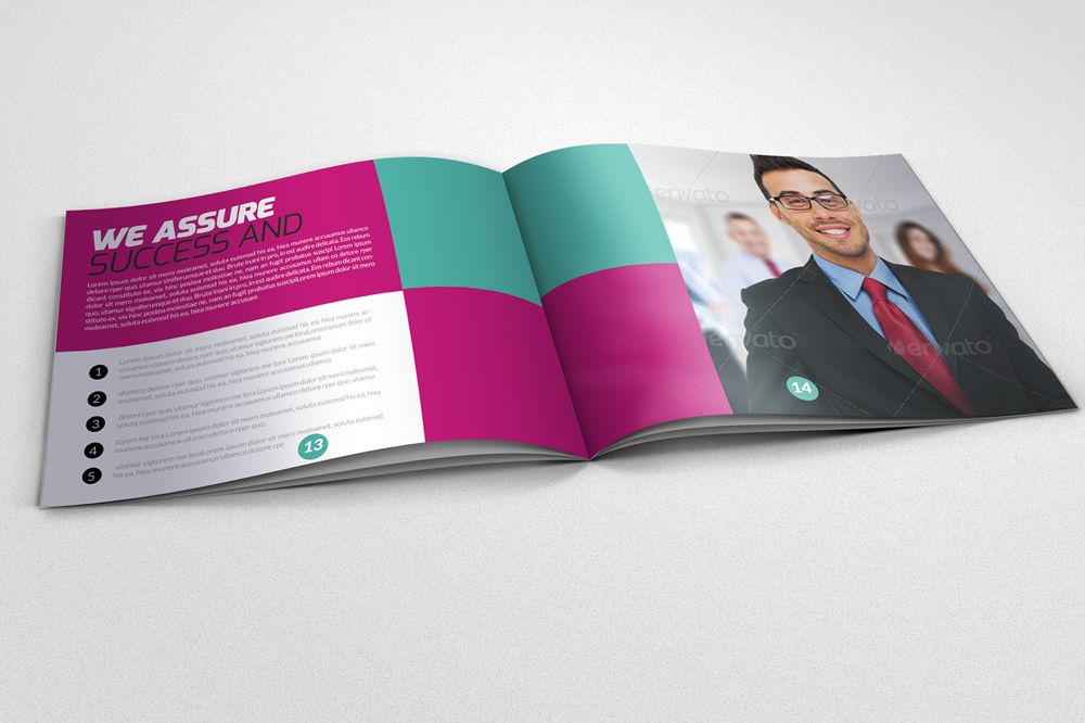 20 Pages Multi Use Minimal Square Brochure example image 1