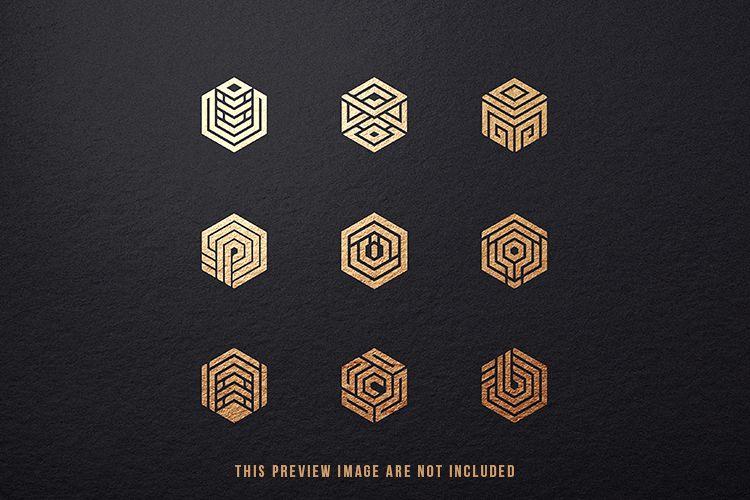 9 Hexagon Logo Conceptual Icon Symbols example image 1