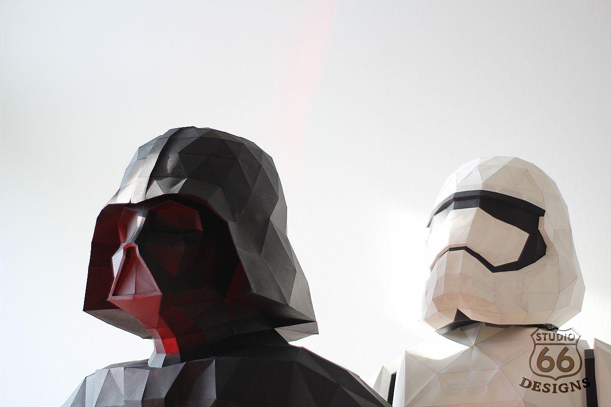 Darth Vader Rogue One Last Jedi Star Wars Papercraft