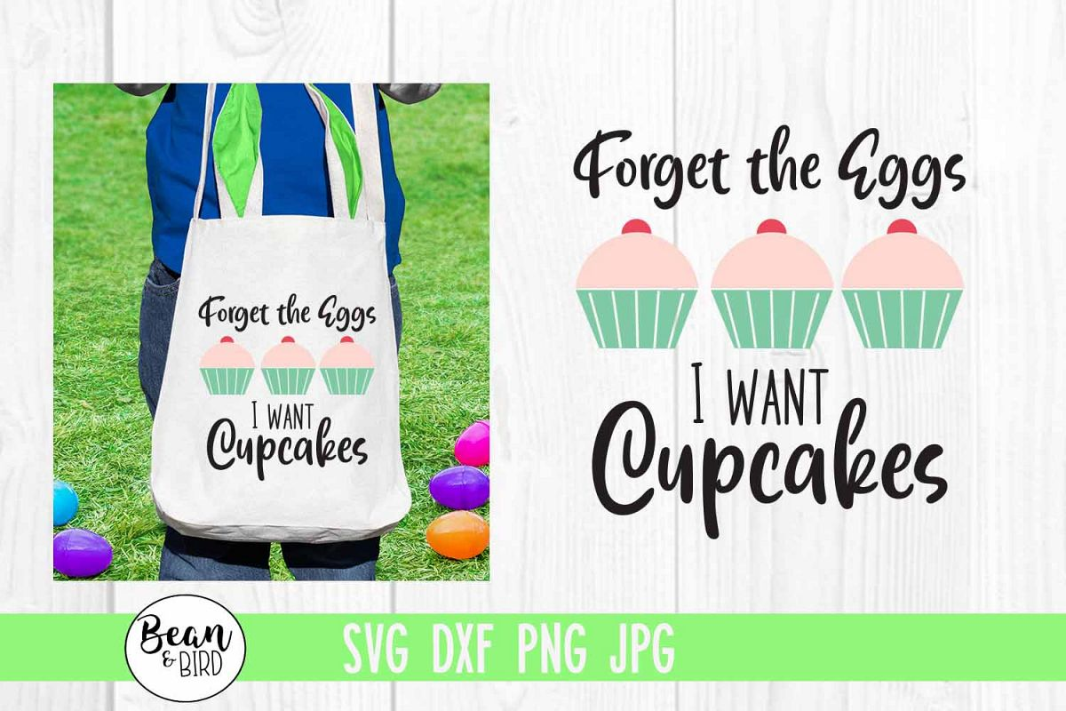 Forget the Eggs Easter SVG example image 1