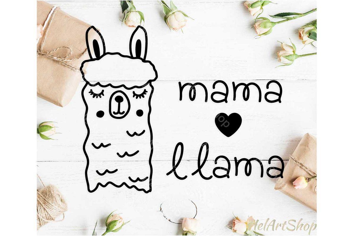 Mama Llama svg, Alpaca svg, Cute Llama svg example image 1