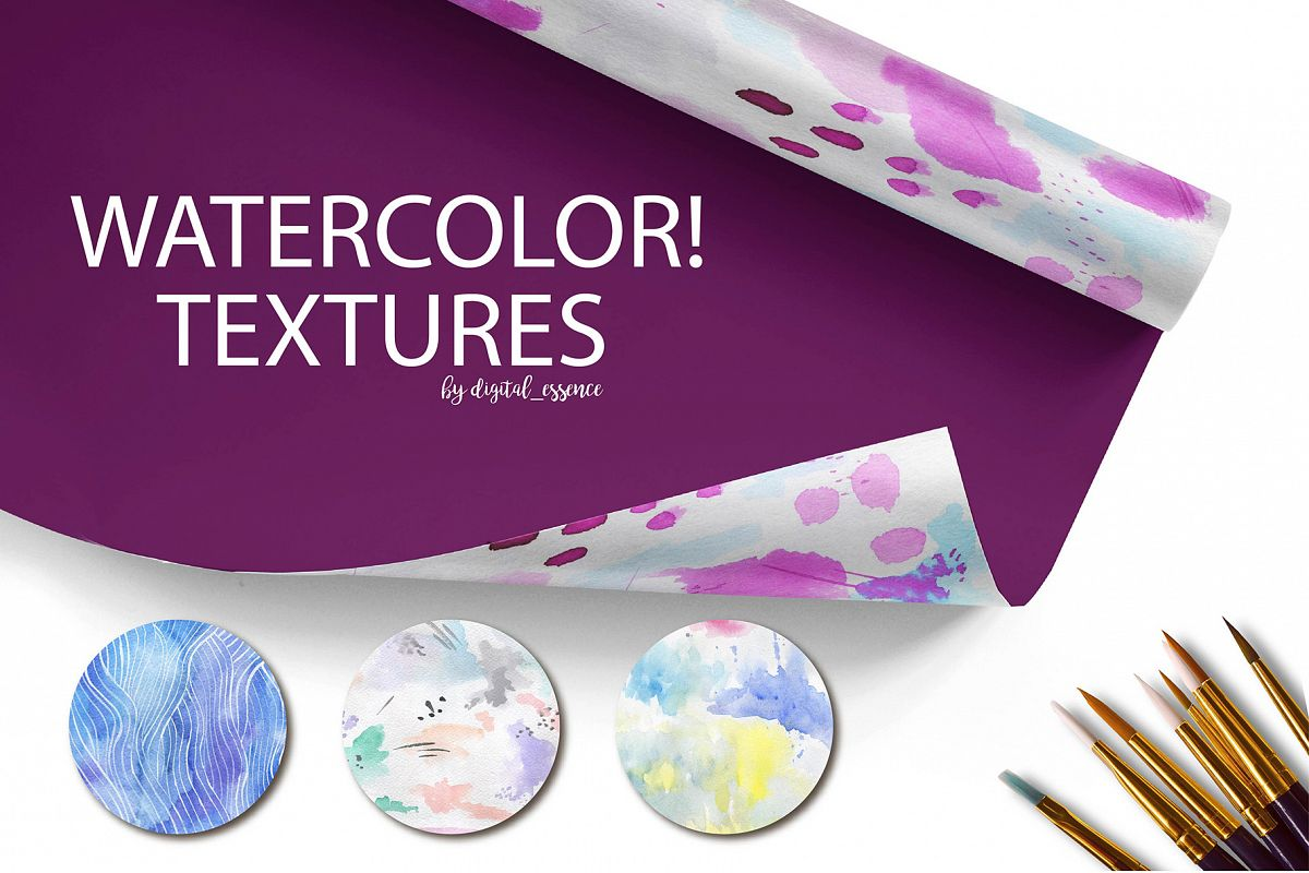 69  Watercolor textures backgrounds! example image 1
