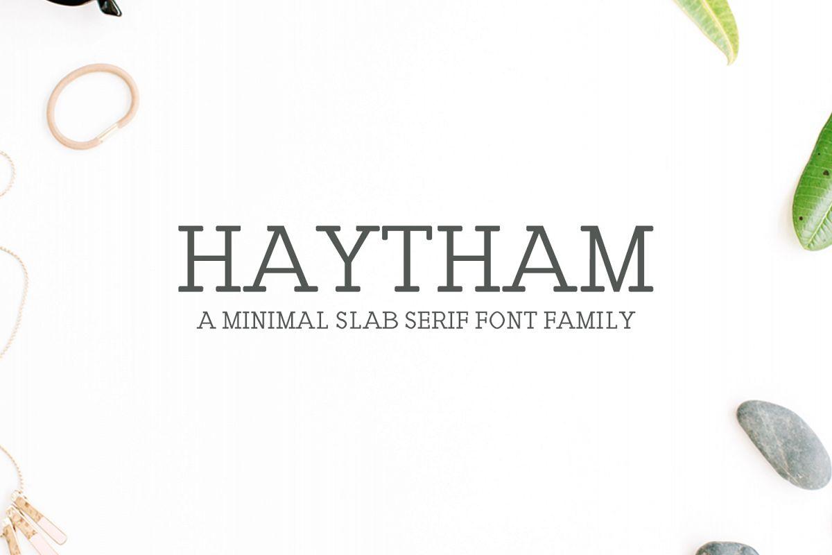 Haytham Minimal Slab Serif Typeface example image 1