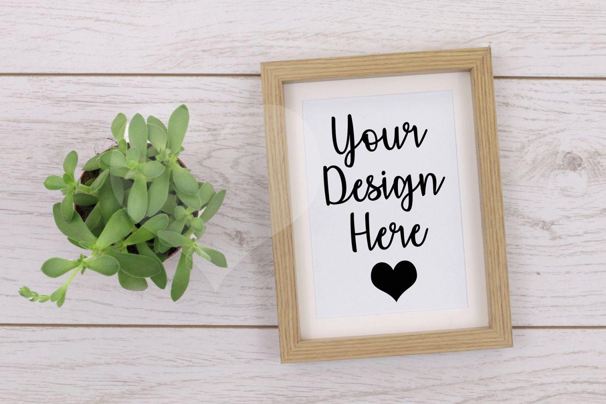 Styled Frame Mockup, Wood Frame Mockup, Styled Stock Photo example image 1