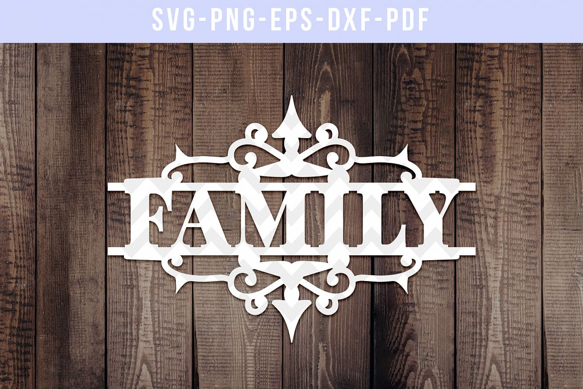 Family Papercut Template, Housewarming Cut File, SVG, DXF example image 1