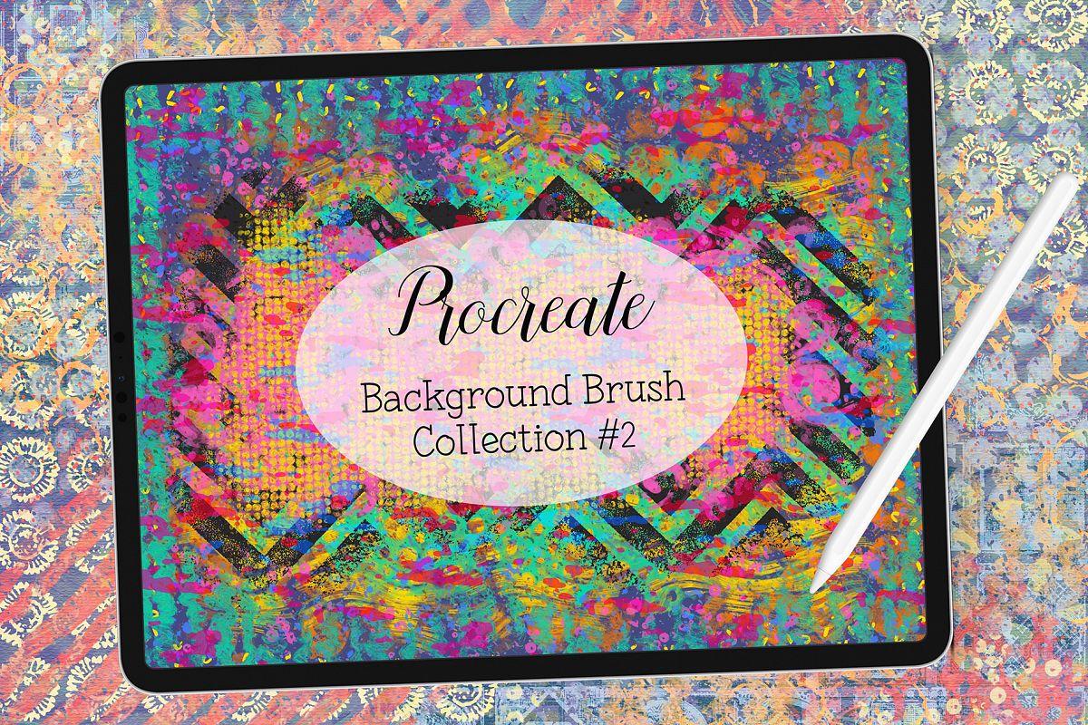 Procreate Background Brushes Set 2 example image 1