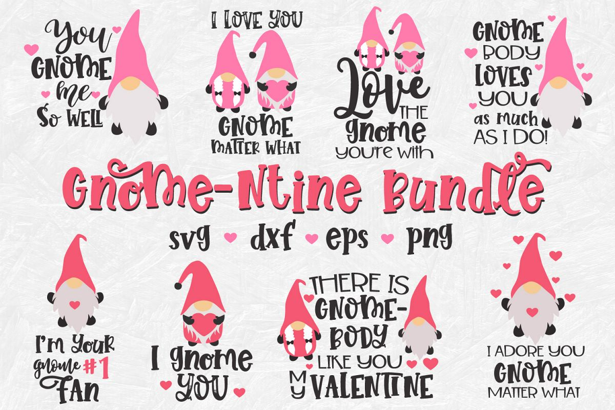 Gnome Valentine's Day Bundle, Valentine's Day Bundle, Gnomes example image 1