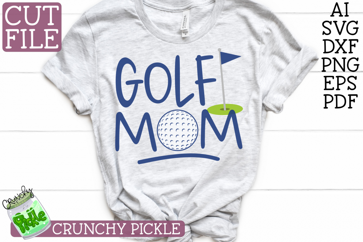 Golf Mom Sports SVG Cut File example image 1