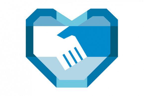 Handshake Forming Heart Shape Retro example image 1
