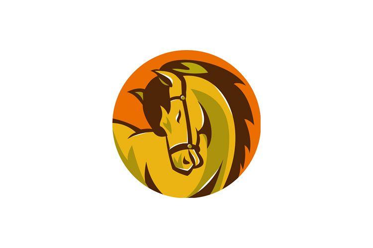 horse stallion head retro example image 1
