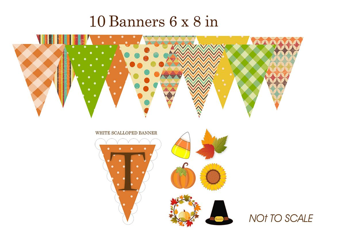 photo regarding Fall Banner Printable known as Thanksgiving Slide Do-it-yourself Printable Banner