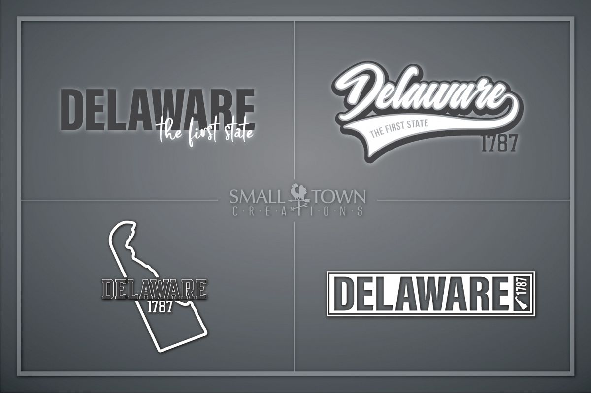Delaware, The First State - slogan, PRINT, CUT & DESIGN example image 1