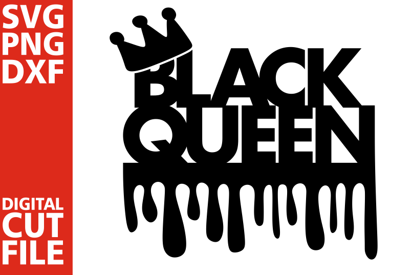 Download Black queen svg, Black Girl Magic, Dripping words, Afro girl
