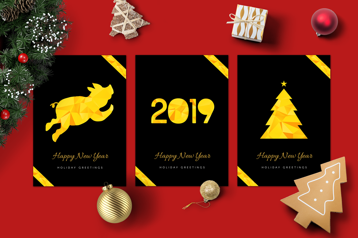2019 Happy New Year Cards