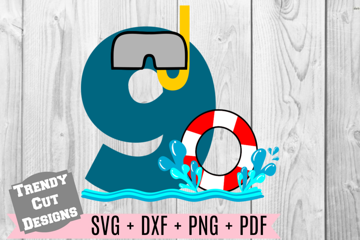 pool party number 9th birthday svg by t design bundles
