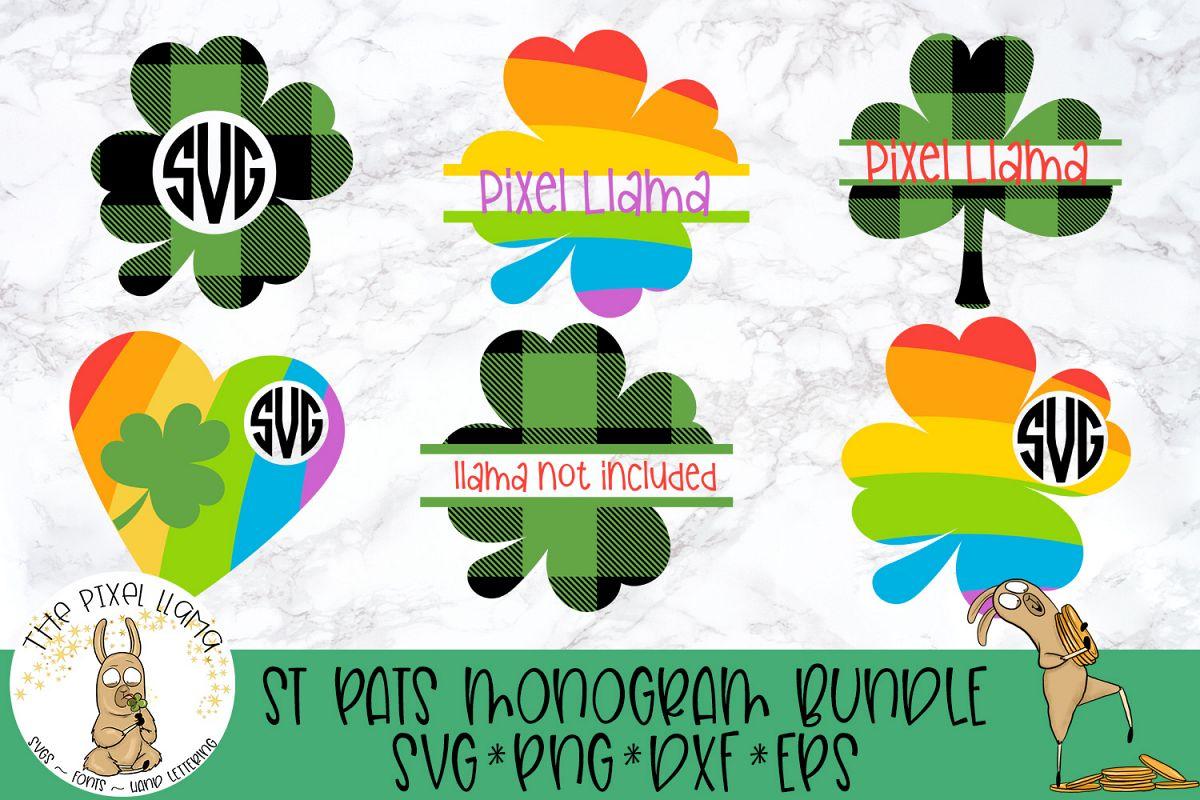 St Patricks Monogram Bundle SVG Cut File example image 1