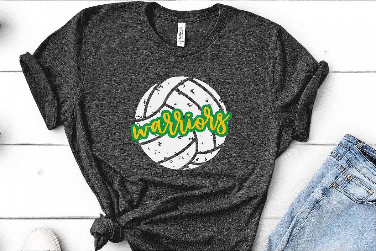 Sports SVG, Warriors Volleyball SVG, Sports Sublimation example image 1