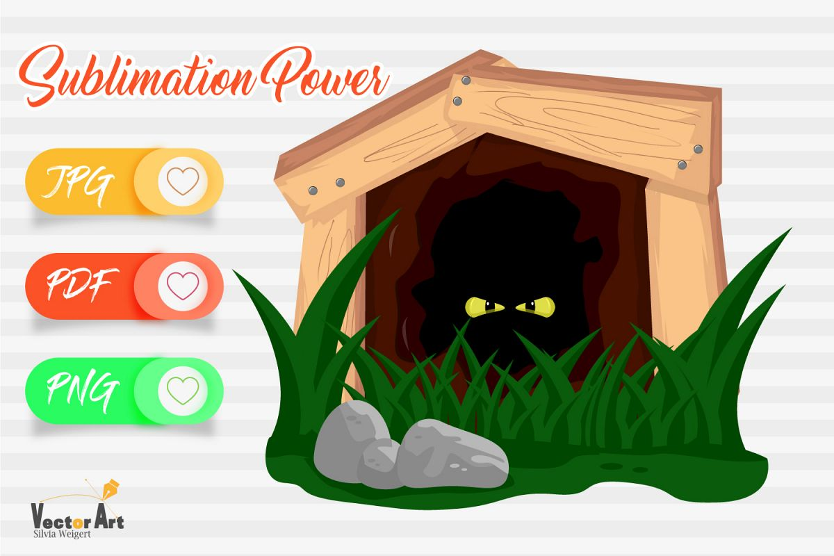 Deep cave with scary eyes - Sublimation File for Crafter example image 1