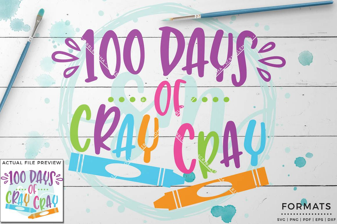 100 Days School SVG Files for Cricut example image 1