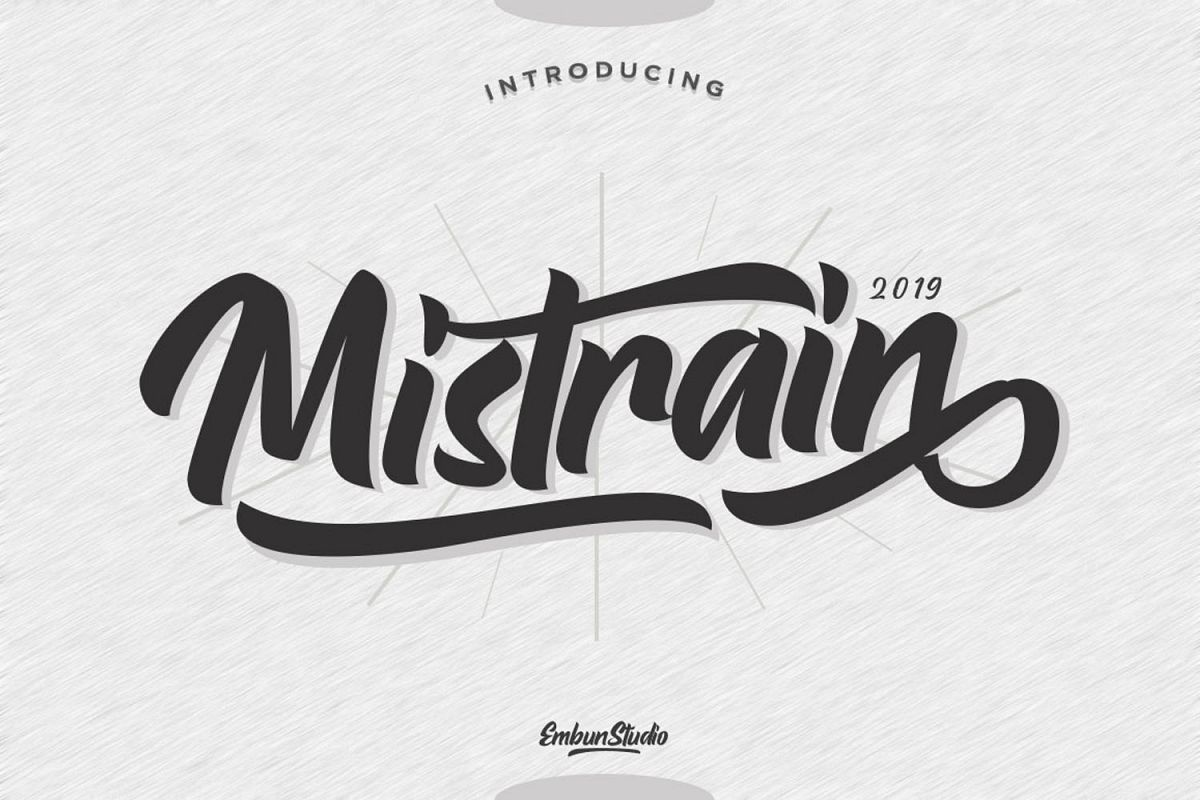 Mistrain Modern Hand Lettering example image 1