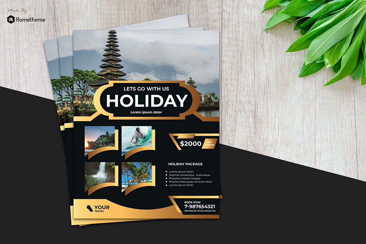 Holiday Travel Flyer vol. 08 example image 1