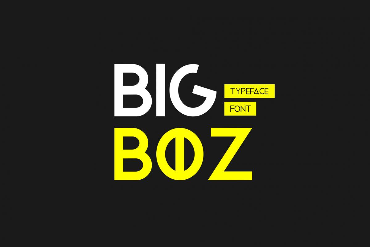 Bigboz Typeface Font example image 1