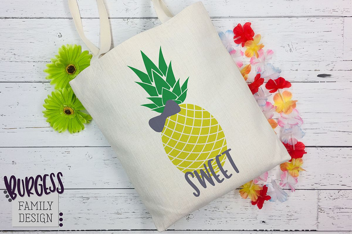 Pineapple bow Clipart | SVG DXF EPS PNG example image 1