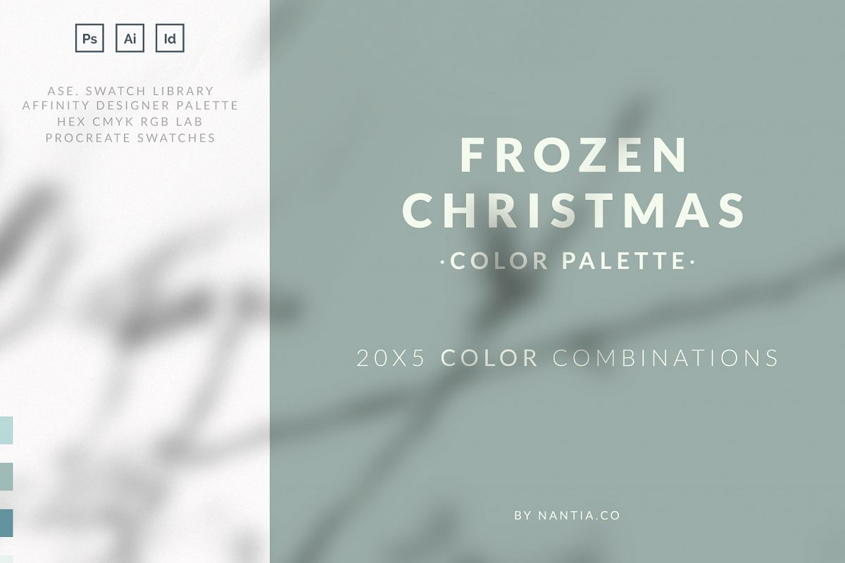 Frozen Christmas Color Palette collection example image 1