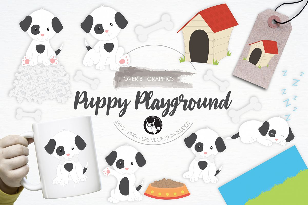 Puppy Playground graphics and illustrations example image 1