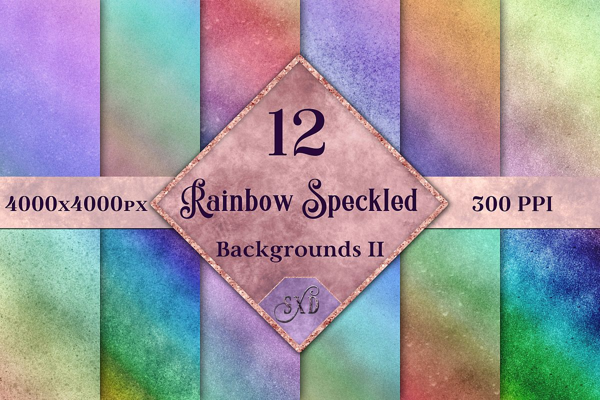 Rainbow Speckled Backgrounds Vol 2 - 12 Image Textures Set example image 1