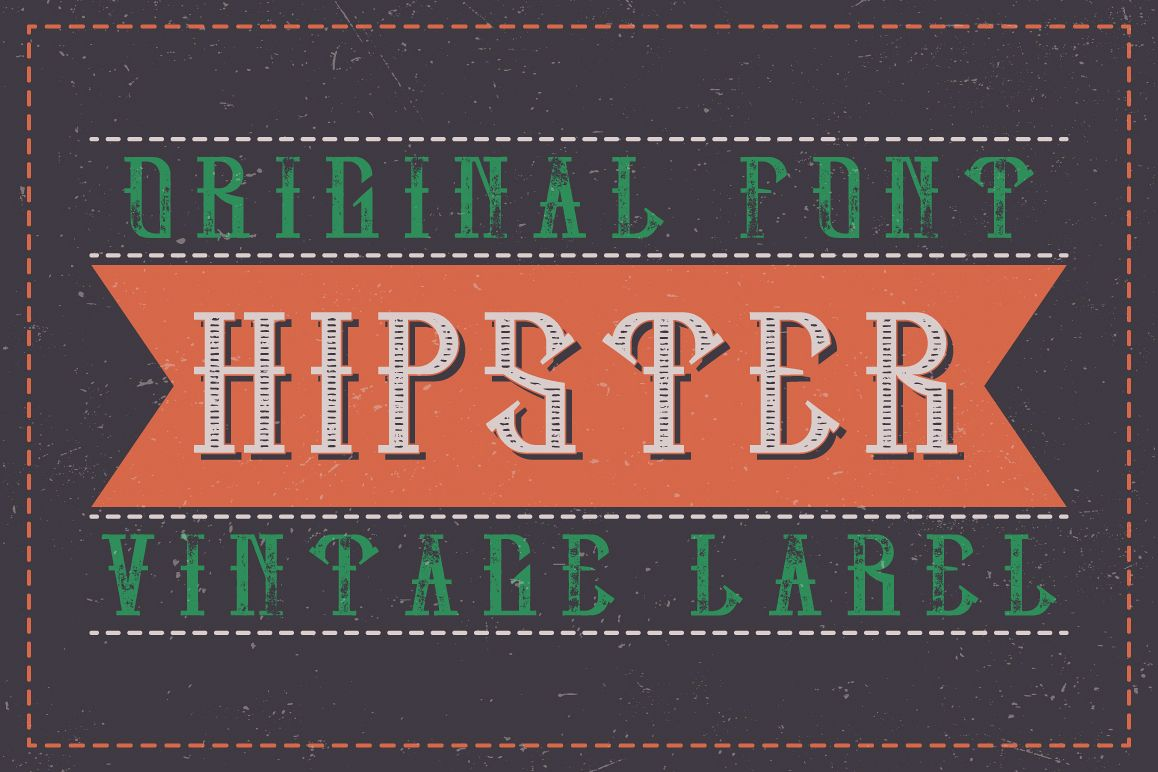 Hipster label typeface example image 1
