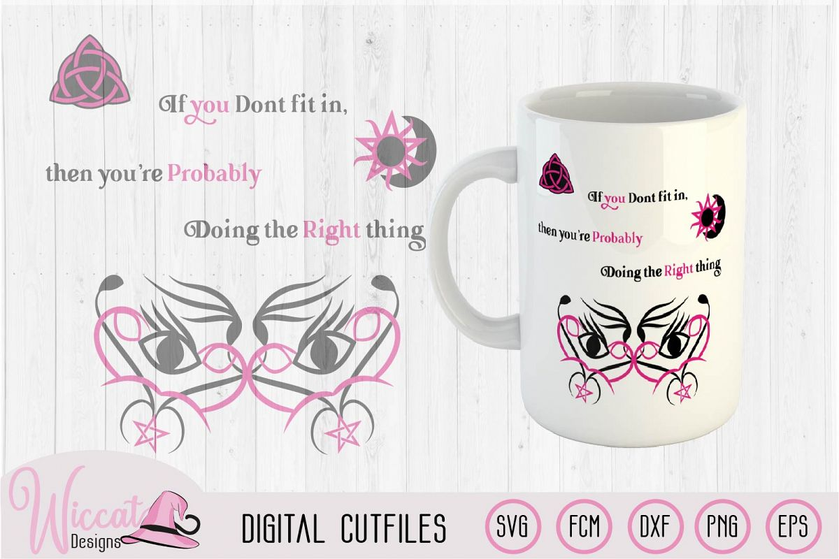 Witch mask svg, Inspiration quote svg, Wicca symbol svg, example image 1