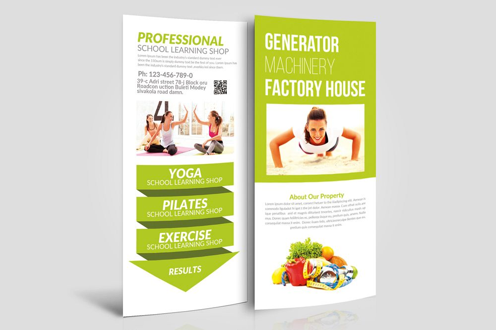 Health & Fitness Rack Card Template example image 1