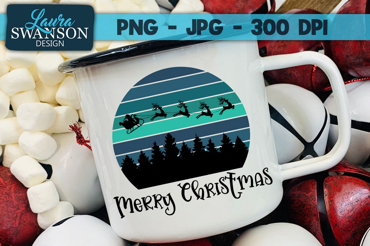 Merry Christmas PNG, JPG, Sublimation, Print n Cut example image 1