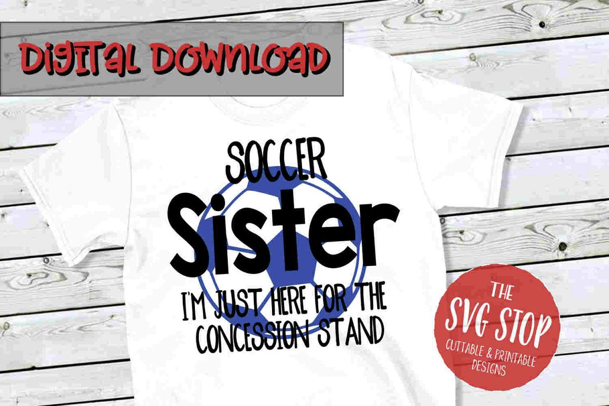 Soccer Sister -SVG, PNG, DXF example image 1