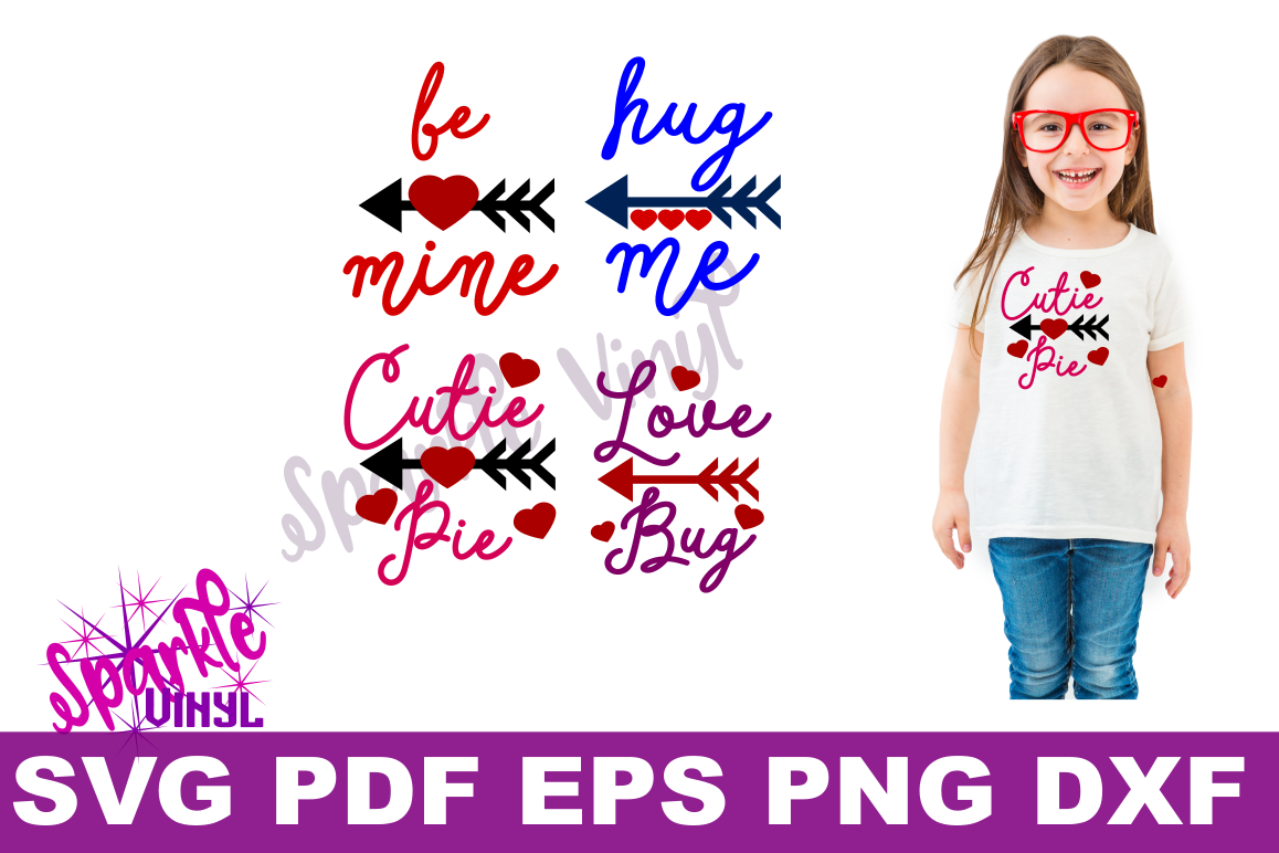Valentine Shirt Toddler Infant Girl printable or svg bundle cut files for cricut or silhouette, Svg Valentines day svg cut file example image 1