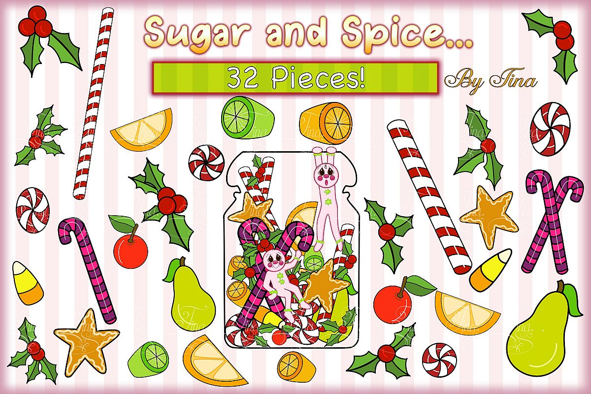 Christmas Sugar and Spice Pink Gingerbread Men 111218SSGB example image 1