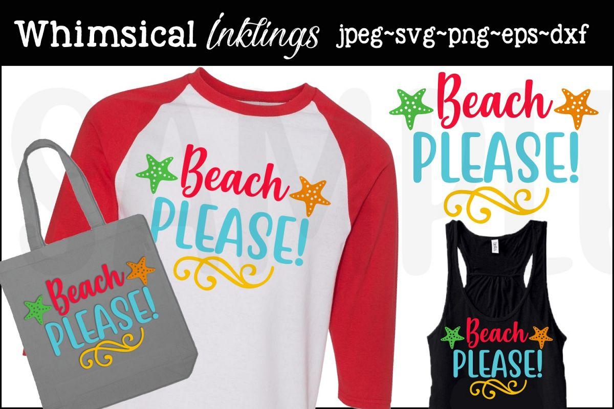Beach Please 2 SVG example image 1