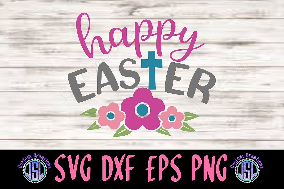 Happy Easter | SVG DXF EPS PNG Digital Cut File Download example image 1