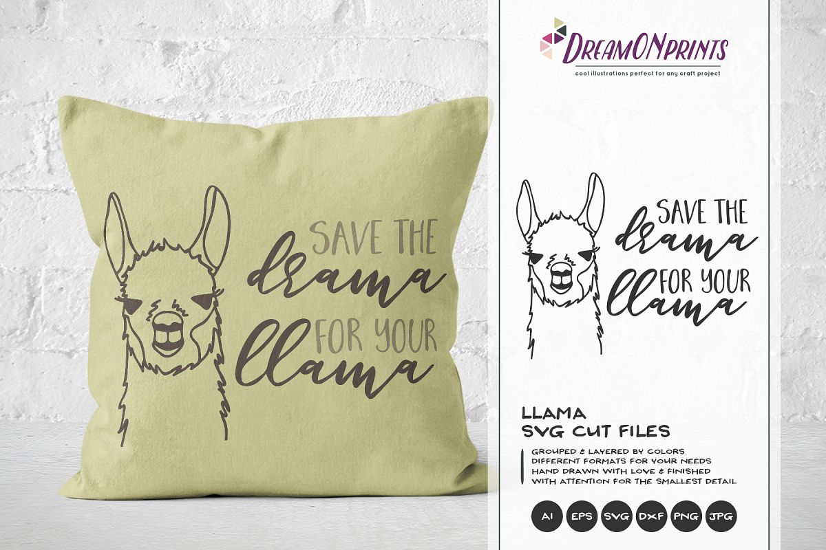 Save the Drama for the Llama SVG example image 1
